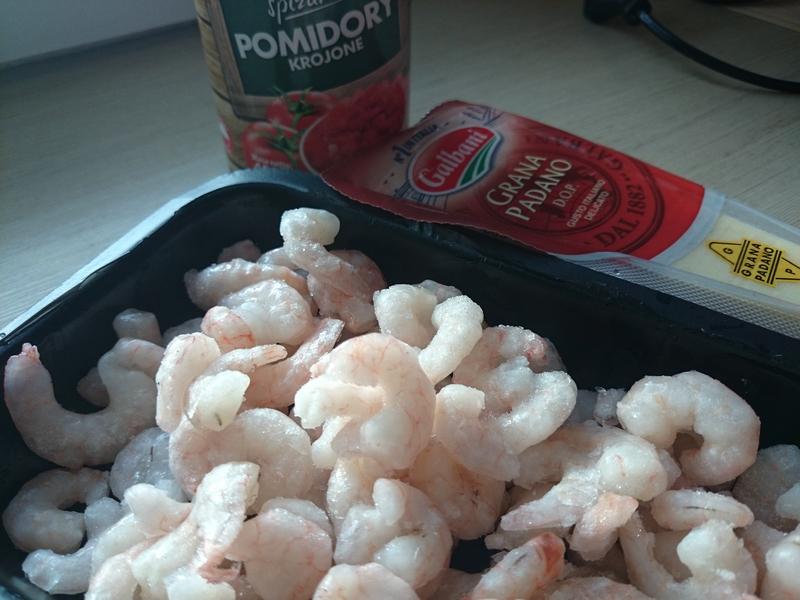 Pomidorowe risotto z krewetkami
