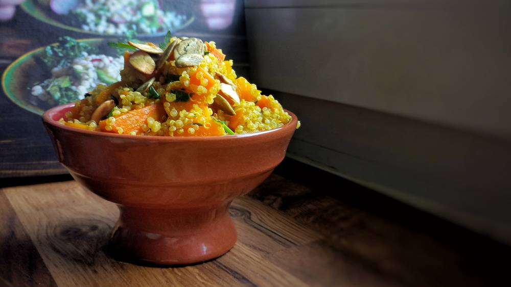 Dynia i marchewka z quinoa - Kipi Kasza