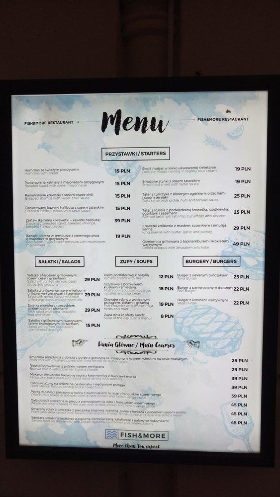Restauracja Fish&More - Warszawa, Nowy Świat