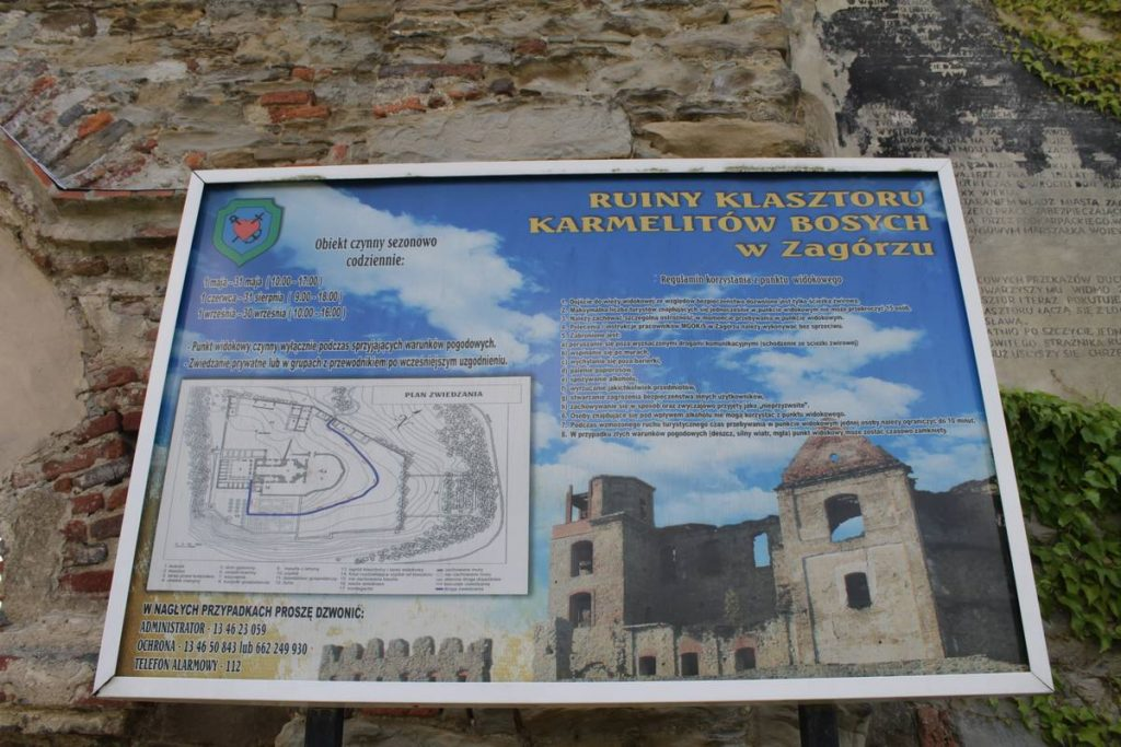 Ruiny klasztoru w Zagórzu