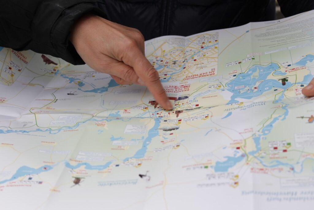 Pływające domy - mapa