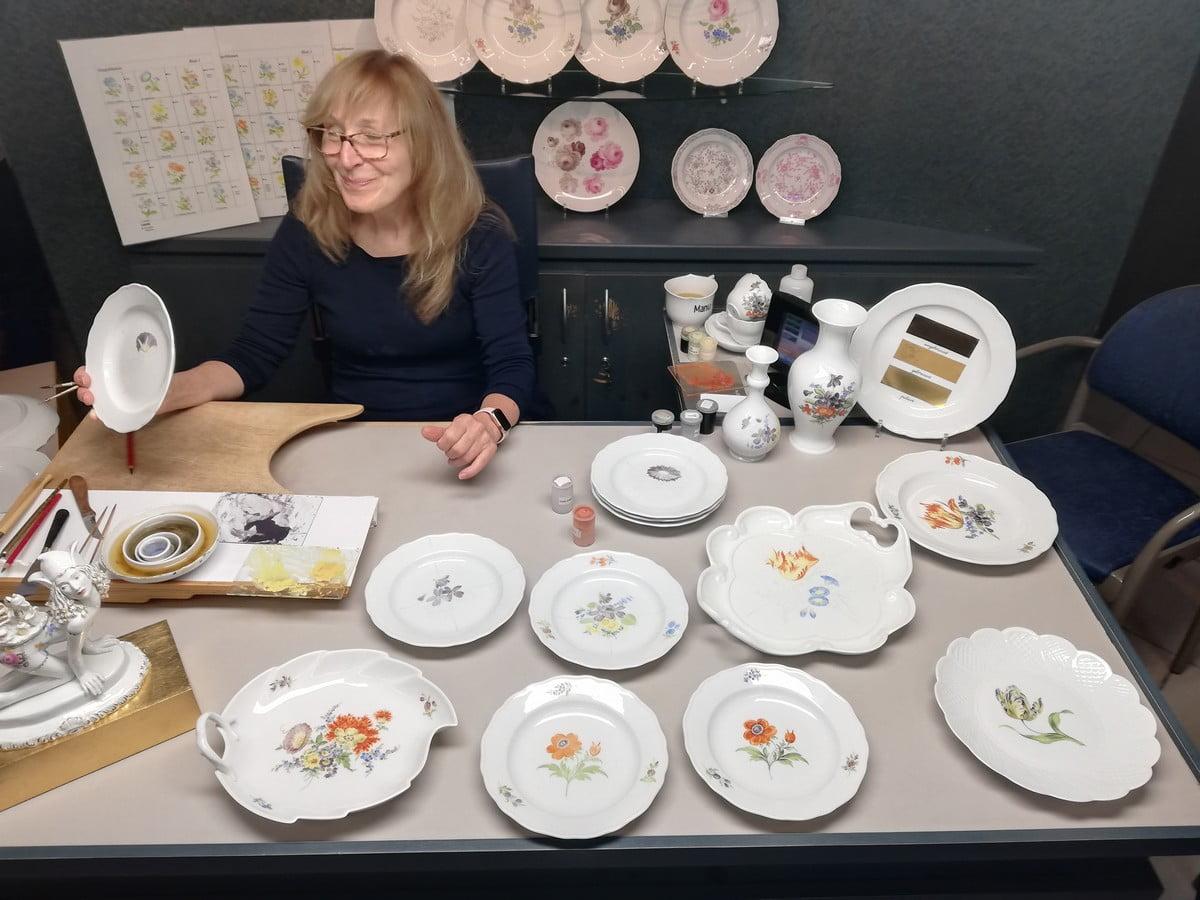 Muzeum Porcelany w Miśni - malowanie porcelany