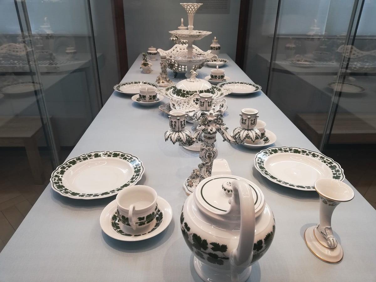 Muzeum Porcelany w Miśni - podano do stołu