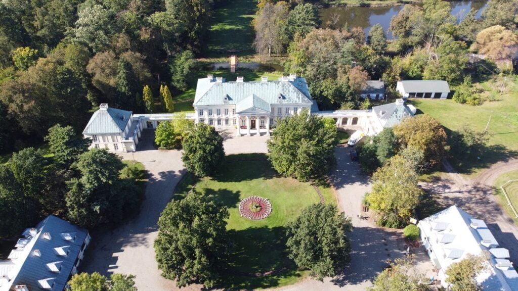 Pałac Walewskich - z powietrza